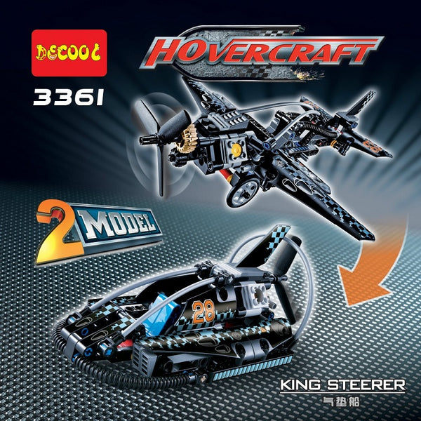 DECOOL 3361 Hovercraft Aircraft Fighter 2 In 1 Transformable Model - Your World of Building Blocks
