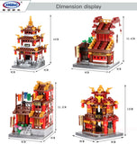 XINGBAO Building Series XB-01102 The Teahouse Library Cloth House Wangjiang Tower Set - Your World of Building Blocks
