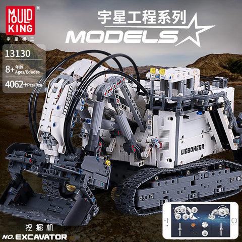 Mould King 13130 RC Liebherr Terex RH400 Mining Excavator - Your World of Building Blocks