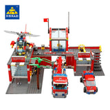 KAZI 8051 Fire Station - Your World of Building Blocks