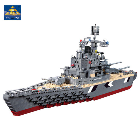 KAZI KY 82012 The Bismarck Cruiser Battleship with Sound and Light - Your World of Building Blocks