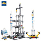 KAZI KY 83001 The Large Rocket Launching Station - Your World of Building Blocks