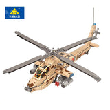 KAZI KY 84020 The Military Armed Ah-64 Apache with Sound and Light - Your World of Building Blocks