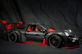 MOC The Black Supercar Racing Car - Your World of Building Blocks