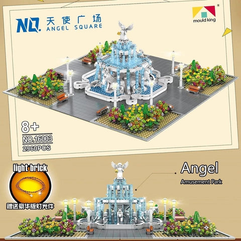 Mould King 16003 Angel Square with Light Bricks