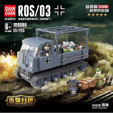 QuanGuan 100086 German half Tracked vehicle ROS/03 - Your World of Building Blocks