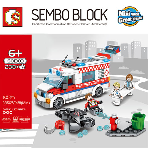 SEMBO 601303-601305 City cars - Your World of Building Blocks