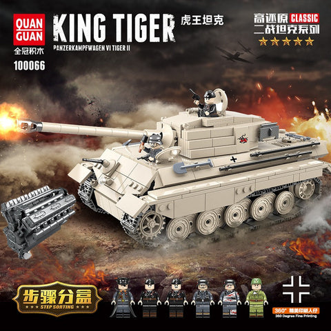 QuanGuan 100066 Germany King Tiger - Your World of Building Blocks