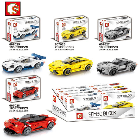 SEMBO 607025-607028 Mini racing cars - Your World of Building Blocks