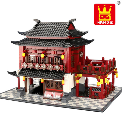WANGE 6312 China Ancient Hotel - Your World of Building Blocks