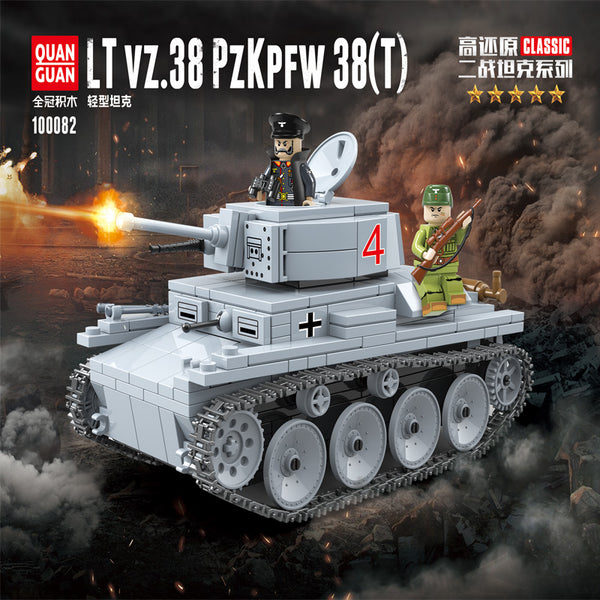 QuanGuan 100082 German LT vz.38 PZKPFW 38 (T) Tank - Your World of Building Blocks