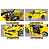SEMBO 701504 Bumble Bee Pull Back Yellow Racer Car