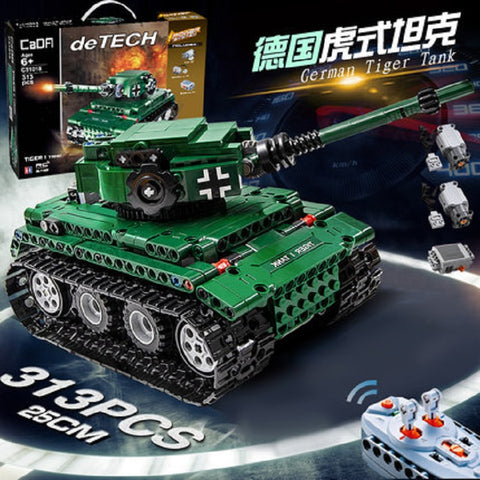 CADA C51018 Tiger 1 Tank - Your World of Building Blocks