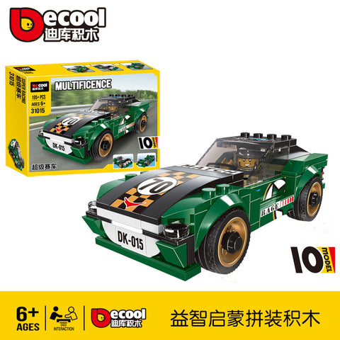 DECOOL 31015-31018 Mini Racing Cars - Your World of Building Blocks