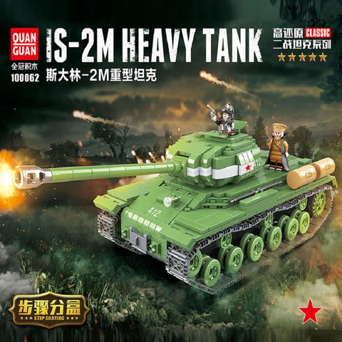 QuanGuan 100062 Soviet IS-2M Heavy Tank - Your World of Building Blocks