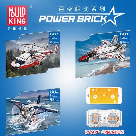 Mould King 15012-15014 RC Airplane