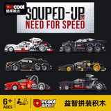 DECOOL KC 001-006 Pull-Back Mini Racing Cars