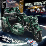 CADA C51021 Military Motorcycle - Your World of Building Blocks