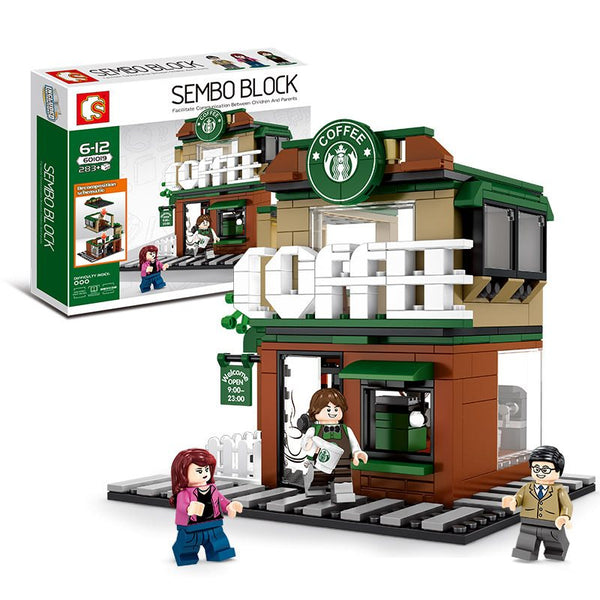 Sembo 601019 Coffee Shop - Your World of Building Blocks