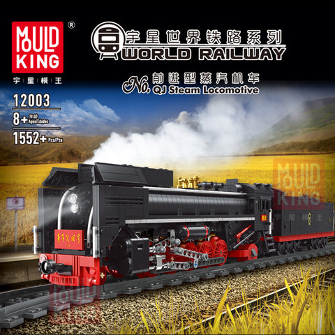 Mould King 12003 RC QJ Steam Locomotive