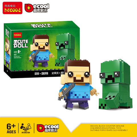 DECOOL 6601 Steve & Creeper - Your World of Building Blocks