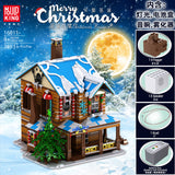 Mould King 16011 The Christmas House with sound, lights and steam