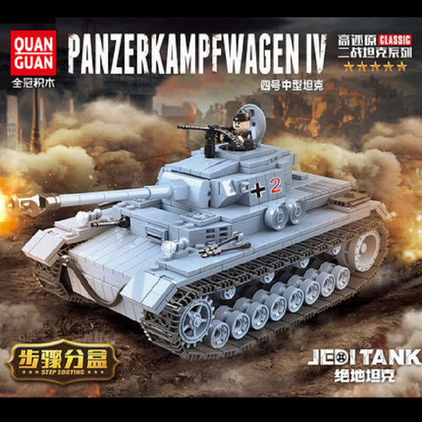 QuanGuan 100069 German PANZERKAMPFWAGEN IV Tank - Your World of Building Blocks