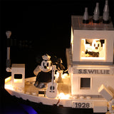 LED Light Kit For The Steamboat Willie SX 3025 - Your World of Building Blocks