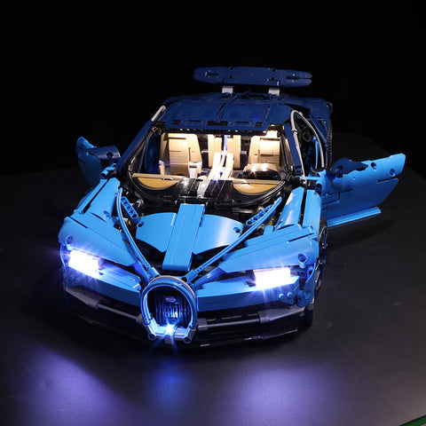 DIY LED Light Kit For the Blue Sports Car Lepin 20086, Decool 3388 - Your World of Building Blocks