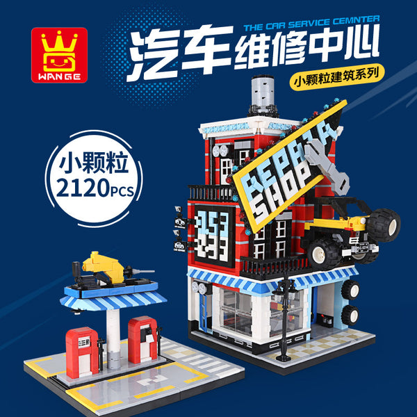 WANGE 6314 the Auto repair shop - Your World of Building Blocks