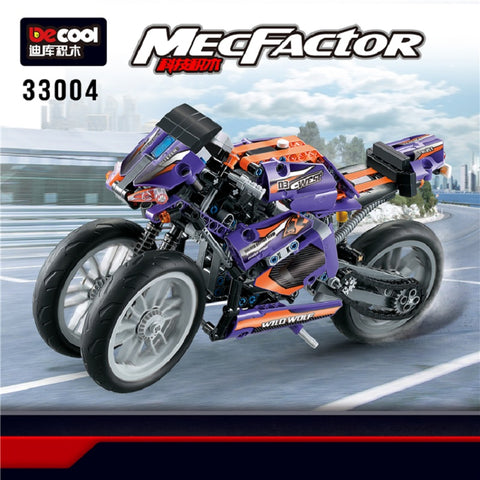 DECOOL 33004 Purple Flame Giant Wheel Motorcyle