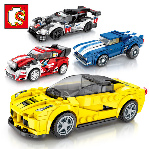 SEMBO 607009-607012 Mini racing cars