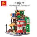 WANGE 6313 BBQ Restaurant - Your World of Building Blocks