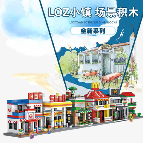 LOZ Mini Street - Your World of Building Blocks