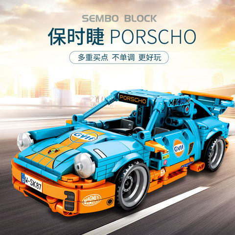 SEMBO 701502 Blue Super Racing Car