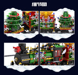 Mould King 12012 The Motorized Christmas Train with sound, lights and steam