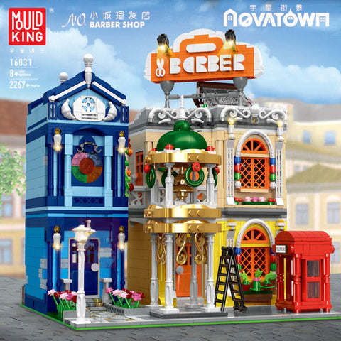 Mould King 16031 Barber Shop with LED lights - Your World of Building Blocks