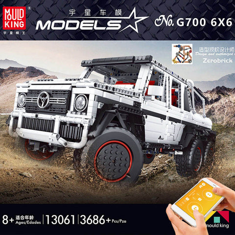 Mould King 13061 RC Mercedes Benz G700 6x6