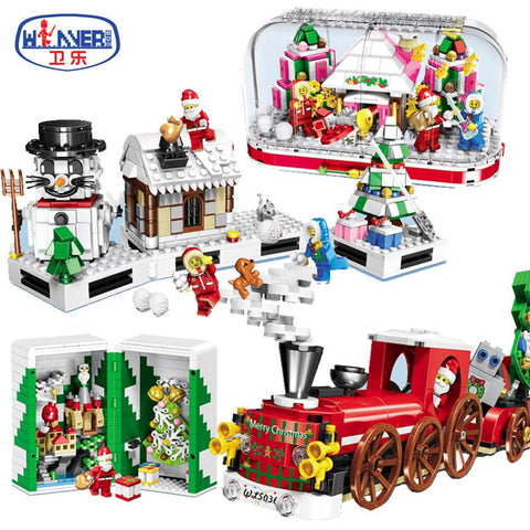 WINNER 5034-5037 Christmas Gift Box Santa Claus - Your World of Building Blocks