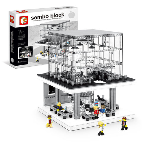 Sembo SD 6900 Apple store with lights - Your World of Building Blocks