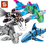 SY 7006 A-D The DIY Forma Fish - Your World of Building Blocks