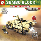 SEMBO 101321 Germany SD.251 Tracked Armored Car - Your World of Building Blocks
