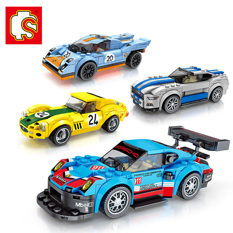 SEMBO 607017-607020 Mini racing cars - Your World of Building Blocks
