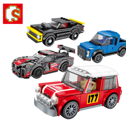 SEMBO 607021-607024 Mini racing cars