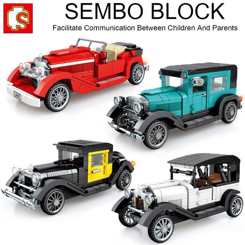SEMBO 607400-607403 Famous Classic Cars - Your World of Building Blocks