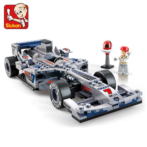 SLUBAN M38-B0352 The F1 SILVER Racing Car - Your World of Building Blocks