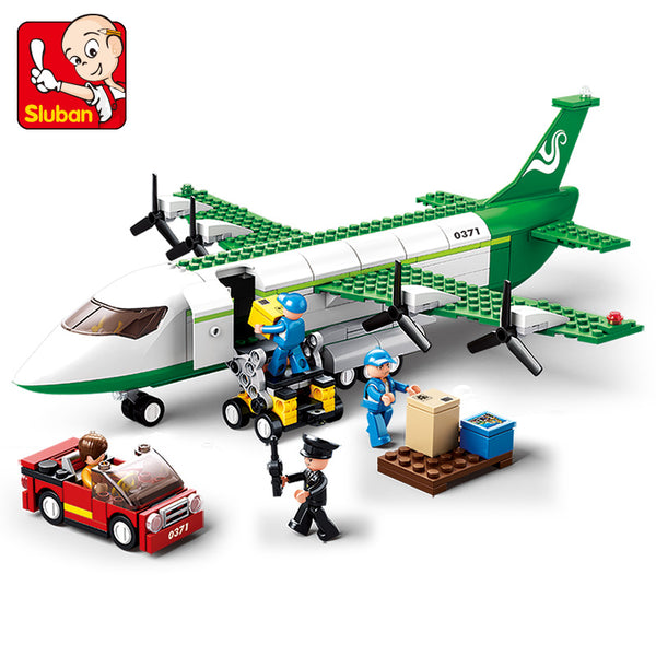 SLUBAN City Series N0.0371 The Airport Airplane Set Building Blocks Bricks Toys Model - Your World of Building Blocks