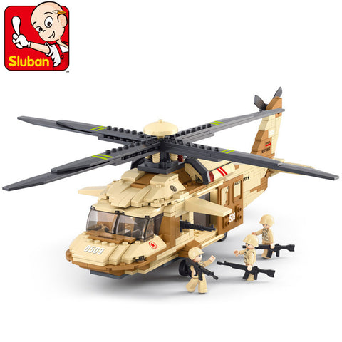 SLUBAN 0509 UH-60L The Black Hawk Helicopter - Your World of Building Blocks