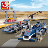 SLUBAN City Series M38-B0355 The F1 Grand Prix Set Building Blocks Bricks Toys Model - Your World of Building Blocks
