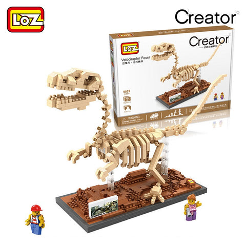 LOZ 9026 Velociraptor Fossil - Your World of Building Blocks